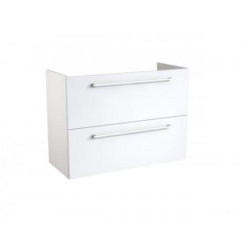 Kame Easy apatinė spintelė su dviem stalčiais 80x39 cm blizgi balta