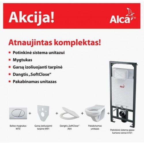 Potinkinio rėmo ir pakabinamo wc komplektas Alca