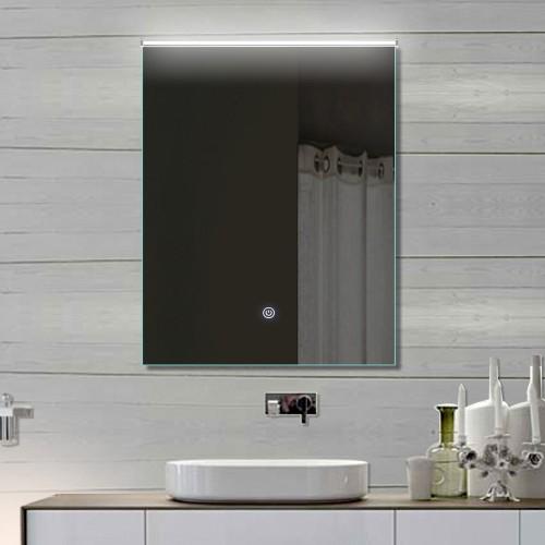 Vonios kambario veidrodis su LED apšvietimu Lux-Aqua LATHL52X70, 520*700 mm