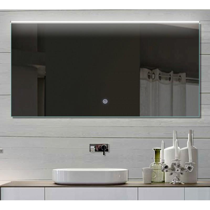 Vonios kambario veidrodis su LED apšvietimu Lux-Aqua LATHL132X70, 1320*700 mm